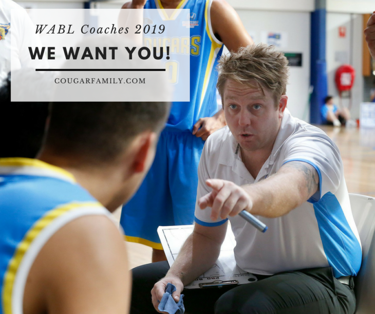 Cockburn Cougars: 2018 State Champs and 2019 WABL Coach Applications